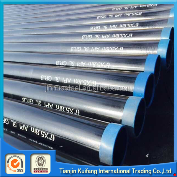 ASTM A53 seamless pipe API 5L/SCh 40 Sch 80 Carbon seamless Steel pipe for China manufacturer