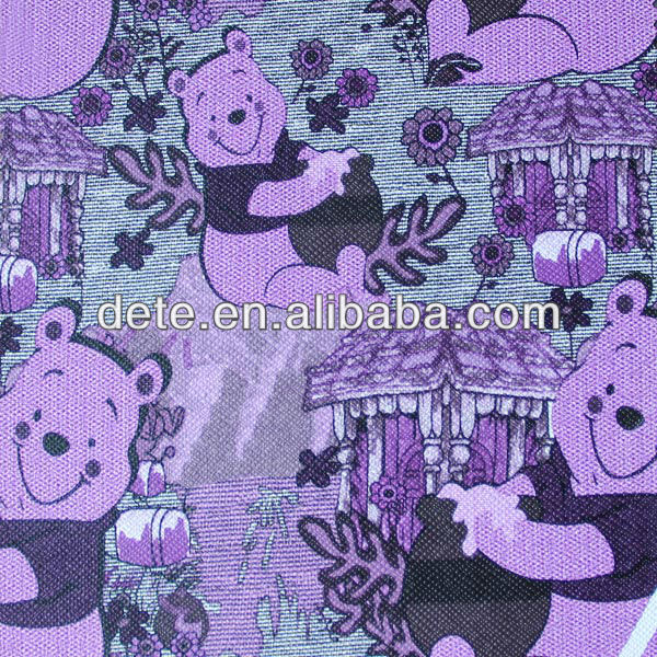 Fashion Chair Leather,cute bear printed PVC leather for child chair leather material