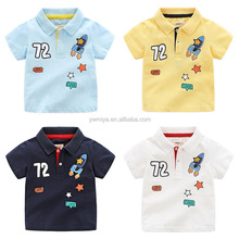 CD-79 The new boy knitted cotton cartoon pattern printing design polo T shirt