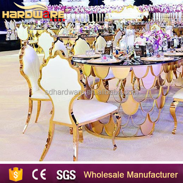 wholesale golden metal banquet chair for wedding hall