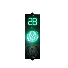High quality 300mm cross road signal traffic light led countdown timer