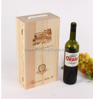 Price list of red wine wooden box supply/ small wood gift box making