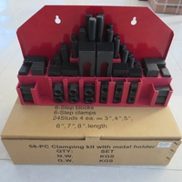 58PCS Steel Clamping Kits for milling