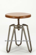 Industrial adjustable height bar stool . Cheap Bar stool