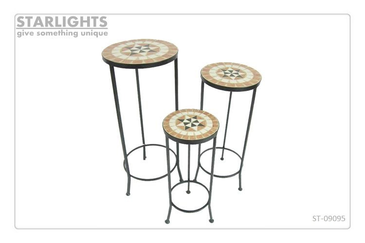 Square Metal Indoor Flower Plant Stand/bases Table Set