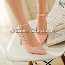 small heel shoes ladies wholesale colorful party dress shoes small size CP6499