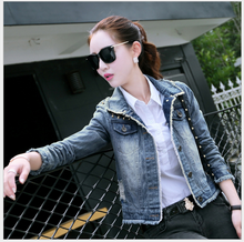 2016 autumn new fashionable jeans casual women coats