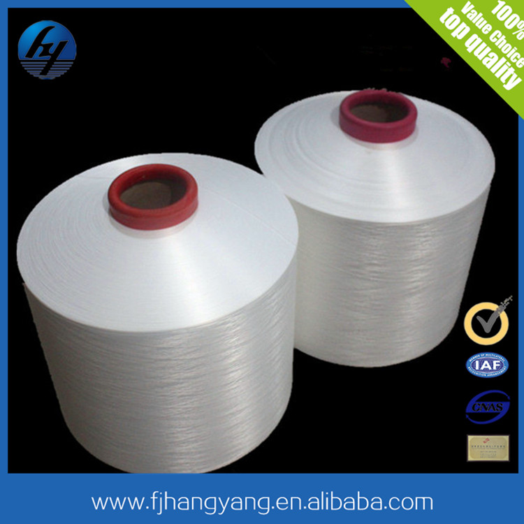 polyester draw textured yarn 120 Denier/ 192F circular hole semi dull thread