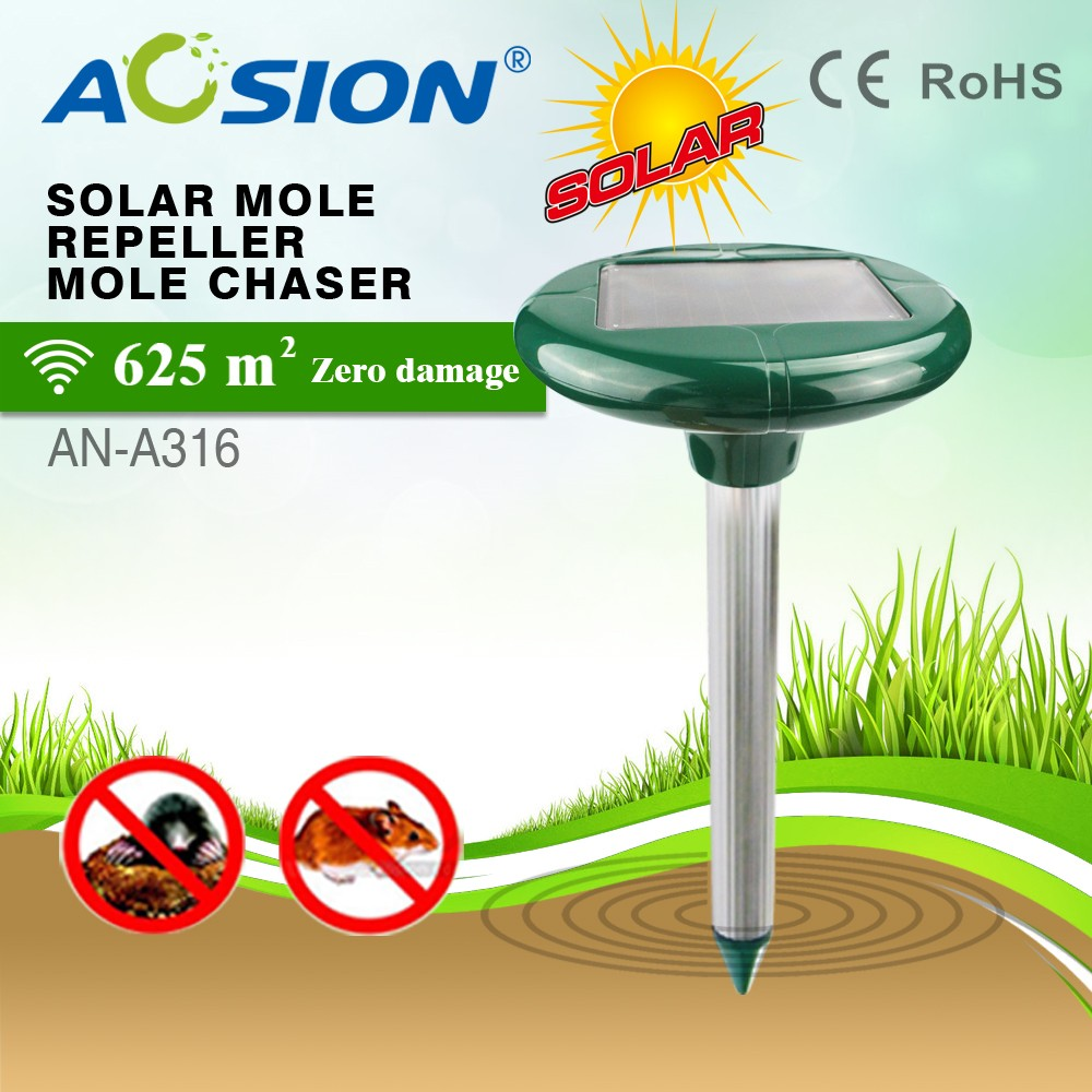Aosion garden tools wholesale solar mole repellent get rid of rodents trap