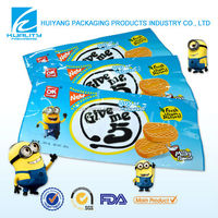Custom made printing side gusset laminated plastic biscuit packet