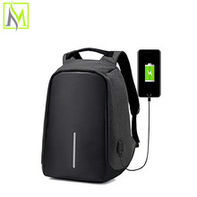 high supplier end school usb bag battery charging backpack with USB Charging Port