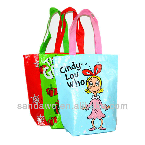 Cute laminated Non woven Shopping Bags for Packaging lunch box (N801028)