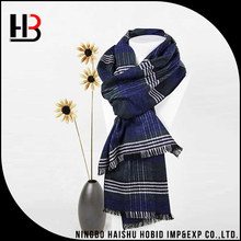 Hot sale black grey 100% viscose woven scarf