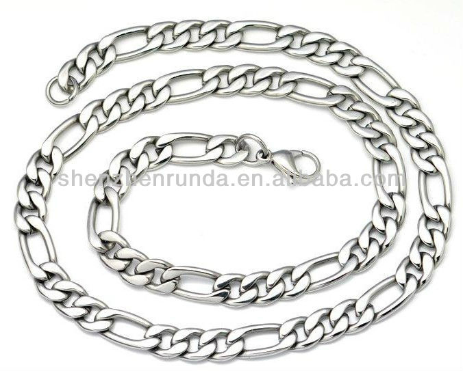 Wholesale various shape size for men's boy's never fade stainless steel chain necklace jewelries accesories from korea