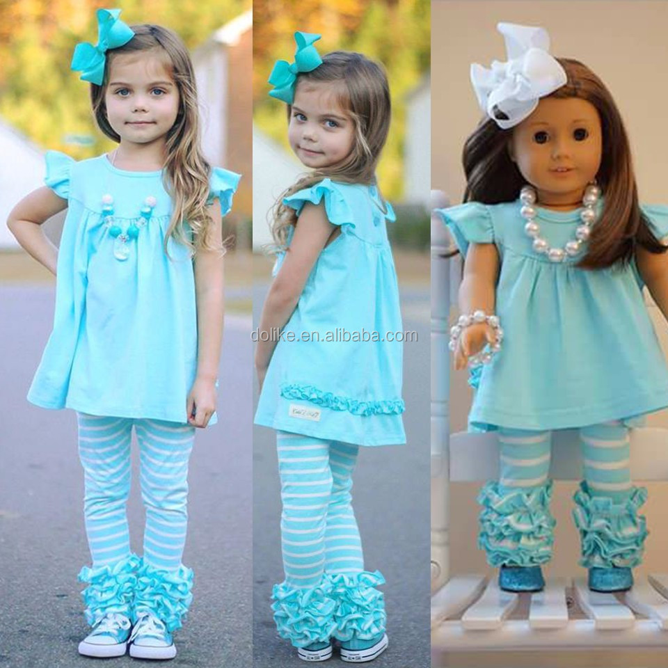 Newest girls boutique clothing spring 2017 baby girl clothing sets wholesale childrens boutique clothing set