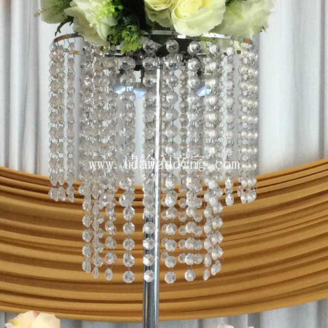 stylish crystal table chandelier type centerpiece for wedding planning