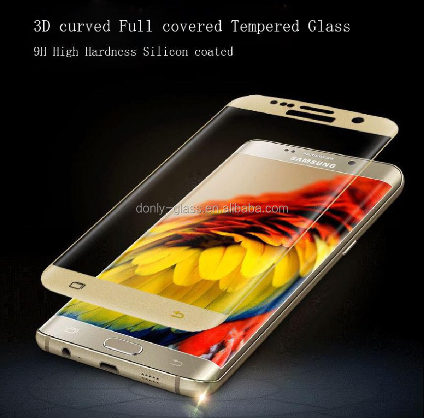 100% brand new and high guaranteed quality tempered glass screen protector for Samsung S6/S7 edge