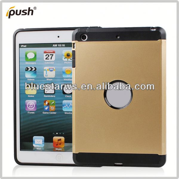 Clip Combo for ipad mini Crystal Case Cover For ipad Mini,PC+TPU Transparent Case For ipad mini