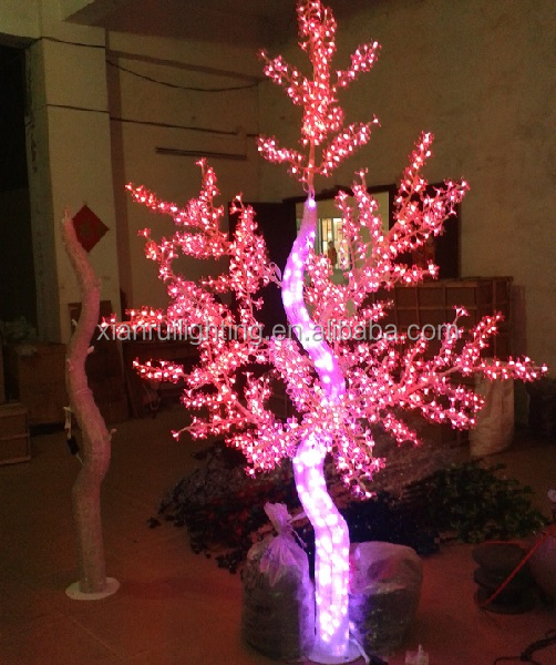 24V/110V/220V Outdoor attractive lighted acrylic trees led christmas decor magic purple cheap bases for flower arrangments