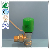 NO/NC water control manifold electric thermal actuator to saving energy