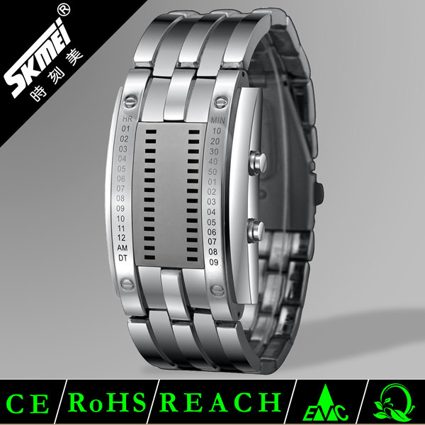 Skmei new style digital slap led flashing watches