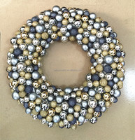 Big woolworth 2016 new wholesale colorful polyfoam base plastic christmas bauble wreath