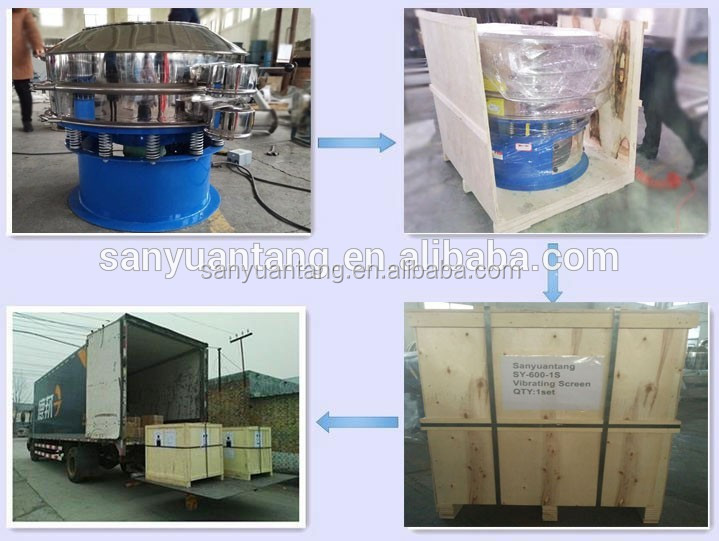 Hot selling rotary ultrasonic vibrating screen with vibrating screen motor