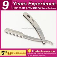 salon stainless steel single blade straight razor shaving for sale
