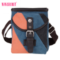 2017 Trendy lady small canvas messenger bag travel shoulder bag for college girl with adjustable shoulder strap