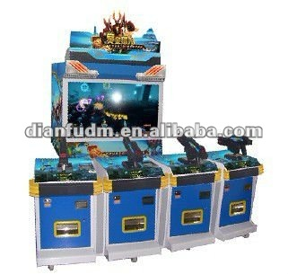bounty hunter 4 player simulator shooting video arcade game machine