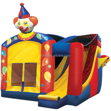 4 in 1 inflatable party clown combo/inflatable jumper for fun/slide and bounce house inflatable
