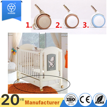 safe silent baby crib wheels with locking 360 degrees wheels