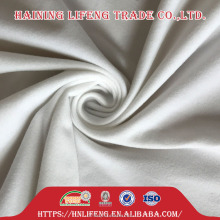 Polyester plain brush Tricot velour velvet fabric for trousers clothing with Hook and loop Touch closures fasteners function