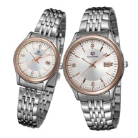 Forsining Quartz couple lover watch unisex montre de luxe guardo erkek kol saati & montre femme