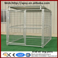 Eco friendly waterproof dog run kennels shepherd breeding large cages metal welded pets pens with gate