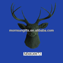 Hot sale black resin small deer figurines