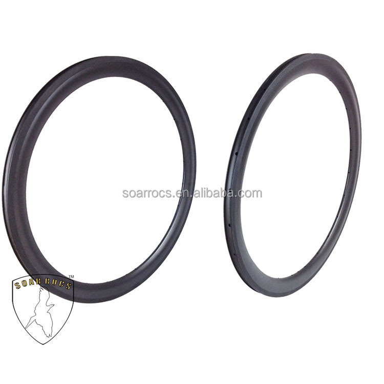 SoarRocs 50mm bicycle wheelset 700c clincher carbon bike 23mm width high TG resin cyclo cross rims 3K matte road bike wheels