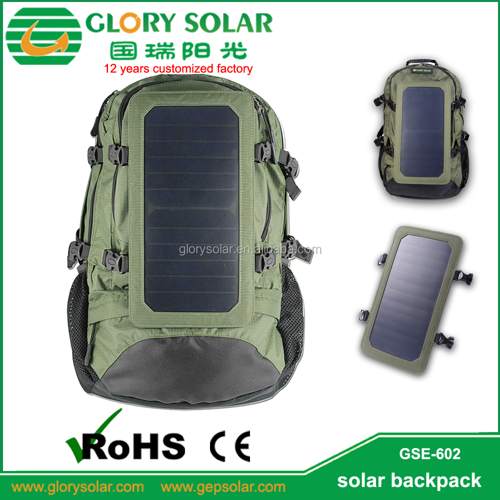 Wholesale Outdoor Camping Hiking Sport Solar Panel Backpack Manufacturers China
