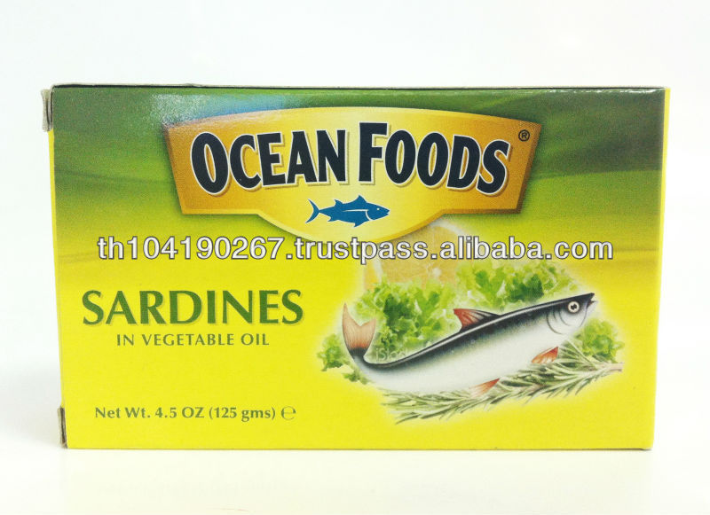 Canned Sardine In Vegetable Oil (club can in sleve box)