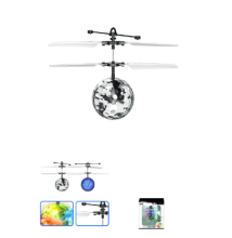 china wholesale market rc mini drone ufo crystal magic flying ball with colorful led BR-B22-1