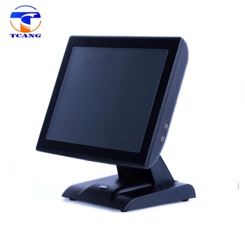 prepaid competitive price 15 inch capacitive touch screen cash register with built in customer display