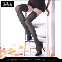 Silk black sexy japanese high heels tube nylon mature stocking