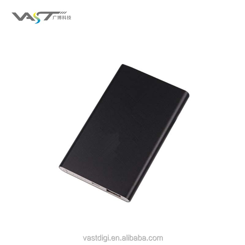 Custom metal slim card power bank4000mAh full capacity