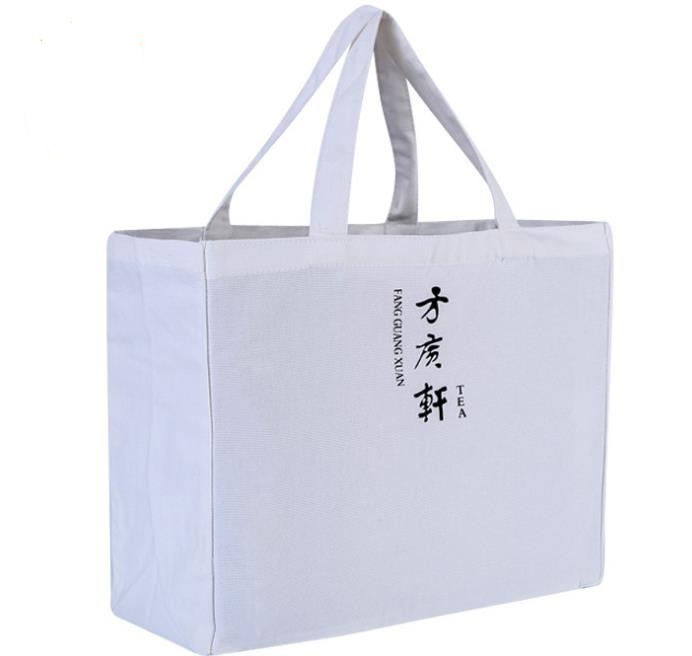White color 20 oz heavy large cotton canvas bag