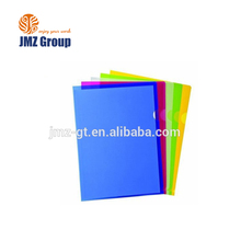 logo customized L shape file folder a4 size clear pp folder