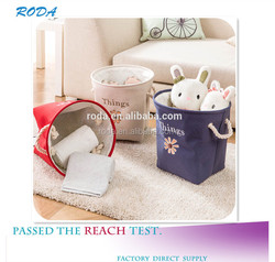 YIWU RODA Cotton embroidery toys receive basket sundry receive laundry basket