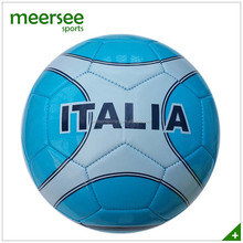 Italy blue design machine sewn soccer ball