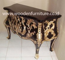 Golden Chest of Drawers Antique Reproduction Chest Wood Carving Commode Classic European Home Furniture French Style Bedroom