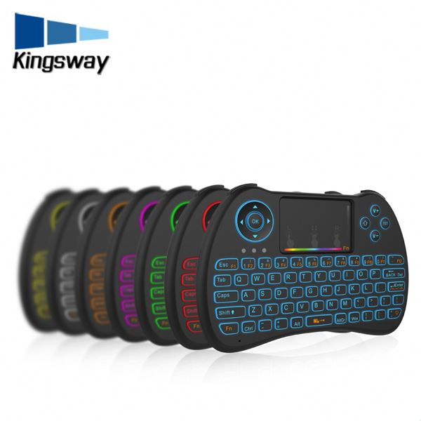 Best Selling H9 Mini Keyboard With Touchpad Colorful Backlit Wireless Keyboard And Mouse International 2.4G Wireless Remote