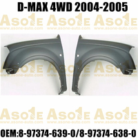 PICK-UP TRUCK FRONT FENDER 4WD WITH FLARE HOLE FOR ISUZU D-MAX 2004-2005